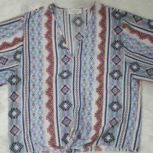Bohemian Hippie Colorful Bell Sleeve Shirt